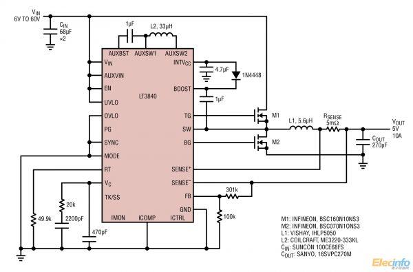 lt3840电源设计应用电路图集锦