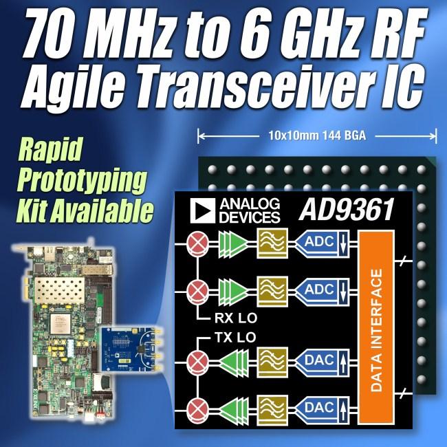 ADI射频收发器为软件定义无线电设计注入动力