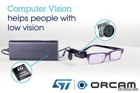 OrCam采用ST相机模块和数字影像处理器补偿视力