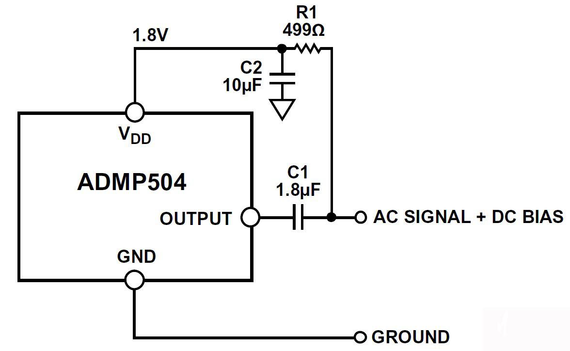 基于双线式麦克风电路中使用MEMS麦克风