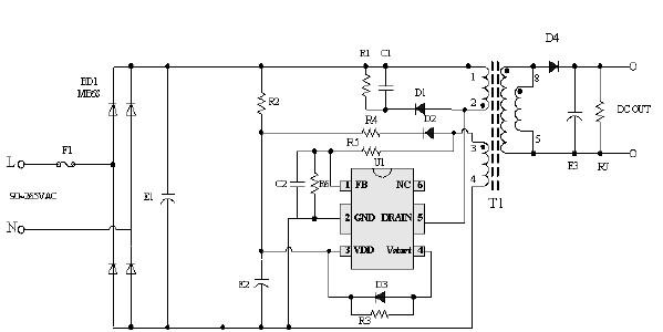 反激式变换器中对于RCD箝位电路的设计