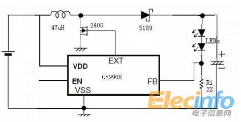 dc-dc芯片做led恒流驱动电路的接法