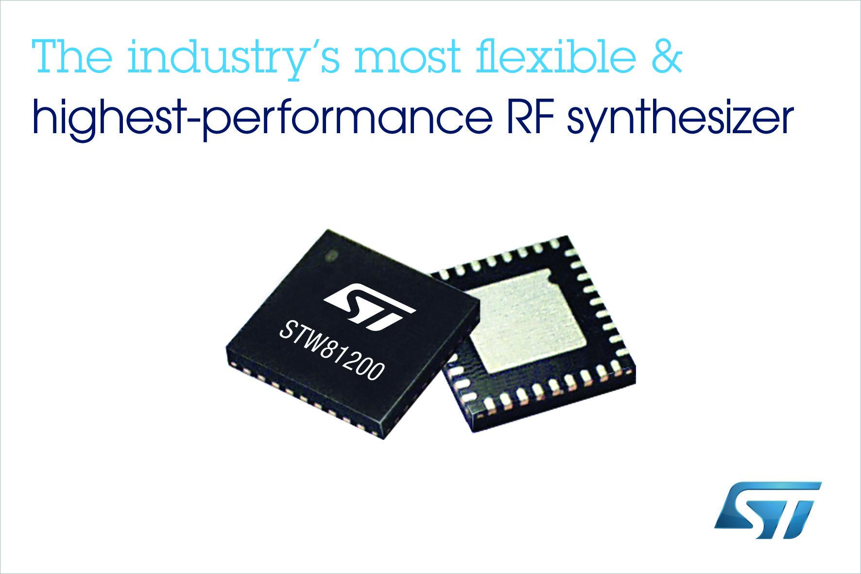 ST推出市场上最灵活的高性能宽带射频合成器