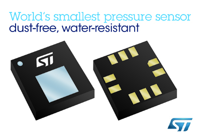 意法半导体推出世界最小无尘防水压力传感器