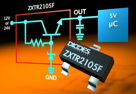 Diodes高压稳压器晶体管为MCU提供5V电源