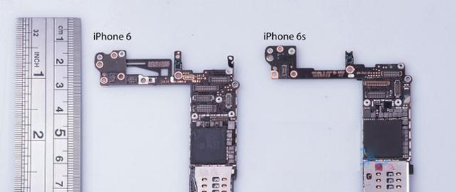 iPhone6s原型机拆解采用更少芯片组