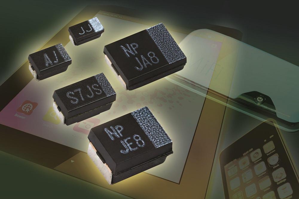 Vishay推出表面贴装聚合物钽式电容器T55系列