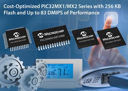 微芯科技推出全新32位PIC32MX1/2单片机