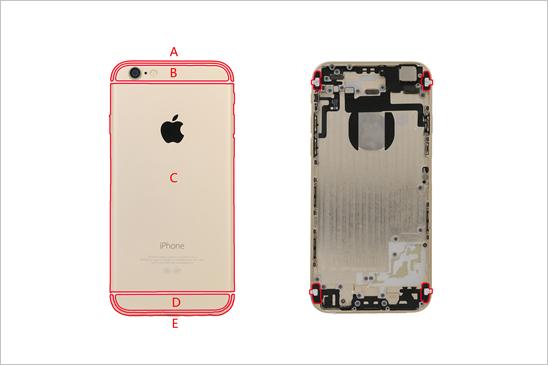 iPhone6外壳上为什么会有碍眼的白条?