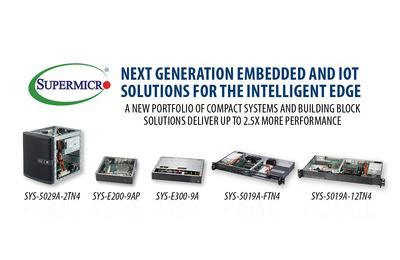 美超微推出嵌入式和物联网系统Atom C3000组合