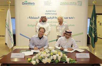 沙特通讯和信息技术部与OneWeb签署谅解备忘录