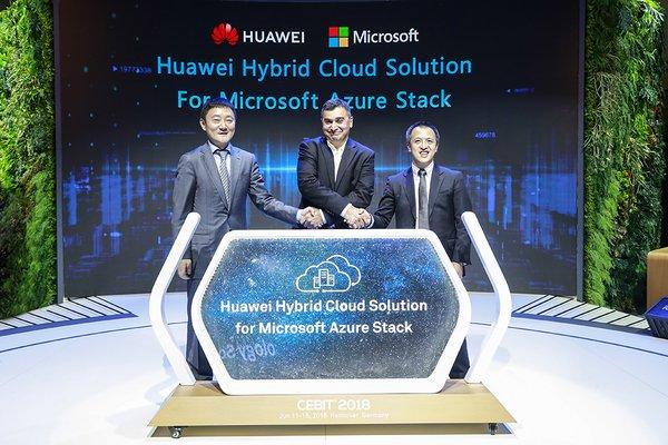 华为发布基于微软Azure Stack的混合云解决方案