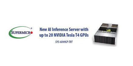 美超微推出4U人工智能推论优化新GPU服务器
