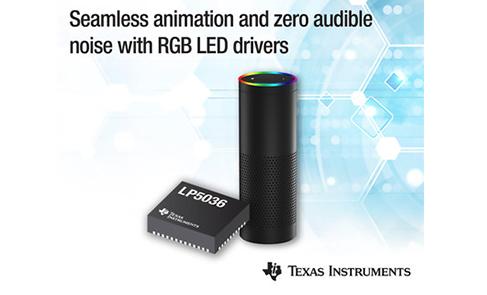 德州仪器推出12位29-kHz RGB LED驱动器系列