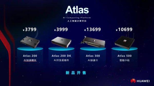 华为Atlas人工智能计算平台正式上市