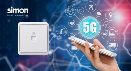 "Simon超五类插座营造宽带家庭网络""5G""体验"