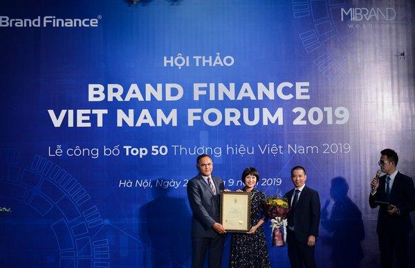 Viettel连续两年高居越南十大最具价值品牌之首