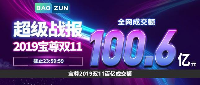 宝尊2019双11百亿成交额