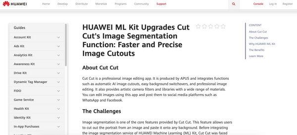 Cut Cut获评华为机器学习服务典型合作案例