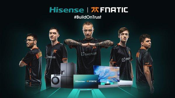 海信宣布赞助Fnatic电竞俱乐部