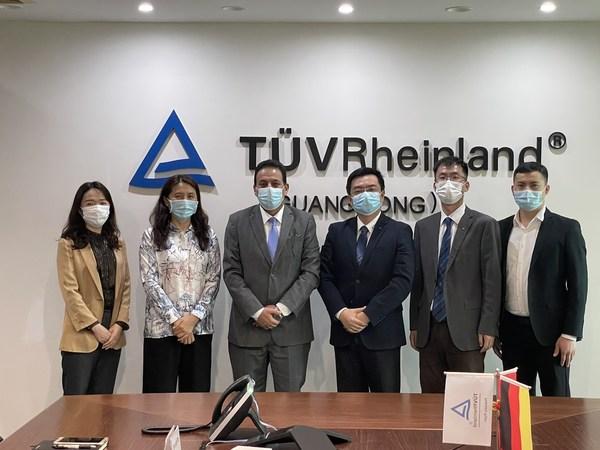 伊拉克驻北京大使馆商务参赞一行参访TUV莱茵广东公司