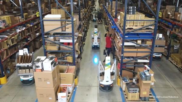 柯尔柏和Locus Robotics的AMR解决方案大幅提高ISN生产率