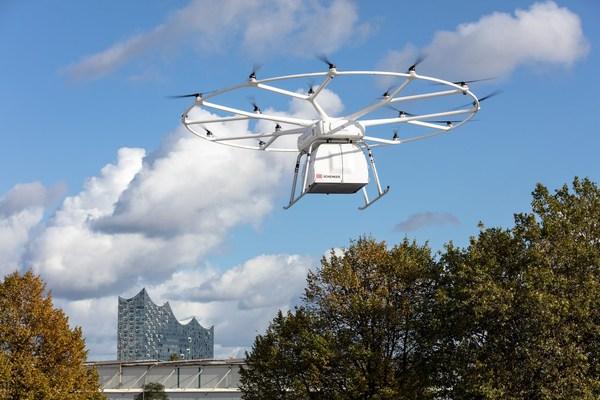 电动重型无人机VoloDrone首次公开飞行成功